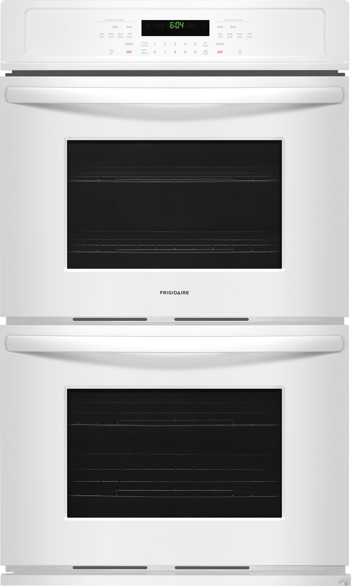 Frigidaire FFET2726TW 27 Inch Electric Double Wall Oven with Vari-Broil™ Temperature Control, Ready-Select® Controls, Even Baking Technology, Self-Cleaning, Delay Bake, Star-K® Certified S