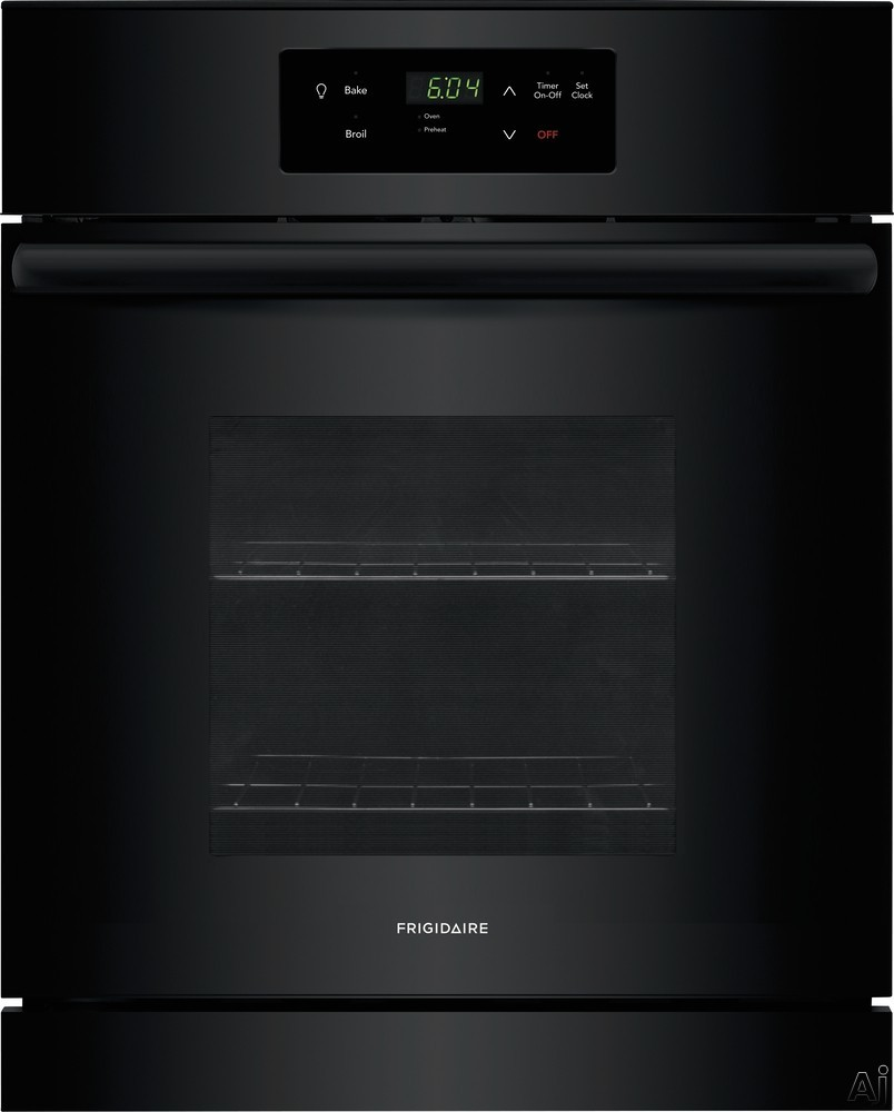 """Frigidaire FFEW2426UB 24 Inch Single Electric Oven with Vari-Broilâ""""¢ Temperature Control, Quick Clean, Oven Rack Handles, Auto Shut-Off and 3.3 cu. ft. Capacity"""