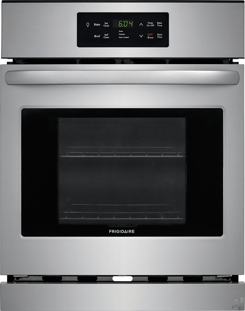 """Frigidaire FFEW2426US 24 Inch Single Electric Oven with Vari-Broilâ""""¢ Temperature Control, Quick Clean, Oven Rack Handles, Auto Shut-Off and 3.3 cu. ft. Capacity: Stainless Steel"""