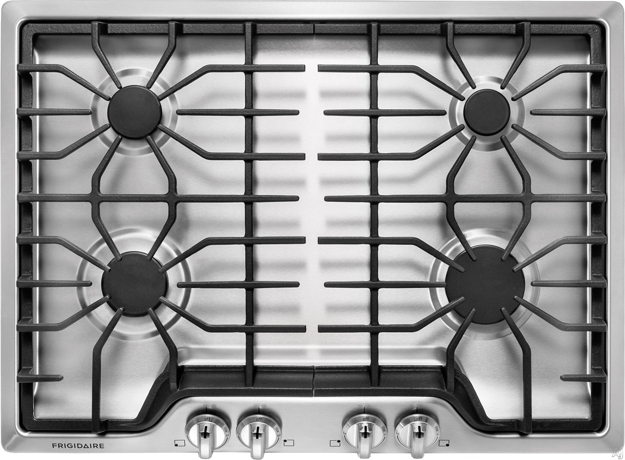 Frigidaire FFGC3026SS 30 Inch Gas Cooktop with 4 Sealed Burners, Cast Iron Grates, Ready-Select Controls, Electronic Pilotless Ignition, Liquid Propane Conversion and ADA Compliant: Stainless Steel