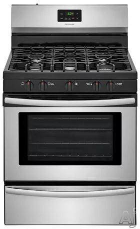Frigidaire FFGF3052TS 30 Inch Freestanding Gas Range with Simmer Burner, Broiler Drawer, Quick Broil Burner, Contentious Grates, 5 Sealed Burners and 4.2 cu. ft. Capacity