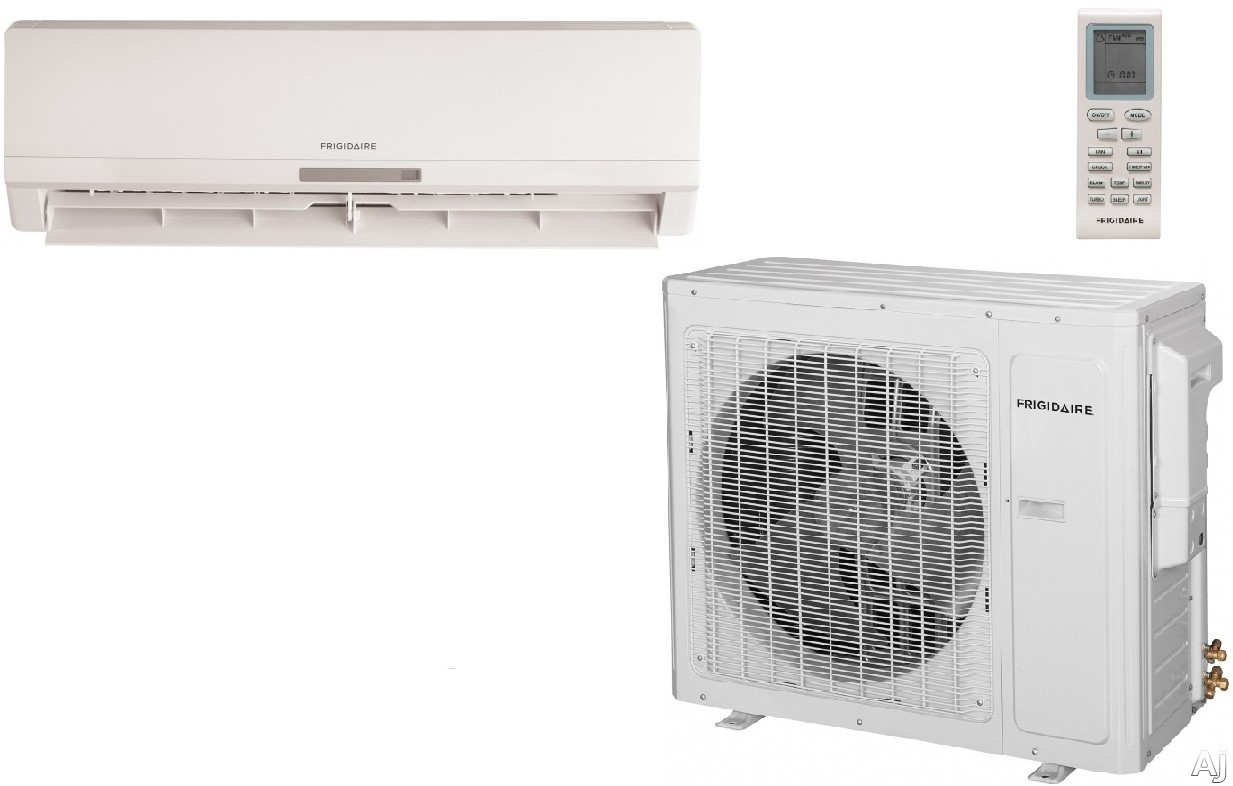 Frigidaire FFHP362CS2 34,600 BTU Single Zone Cool/Heat Pump Ductless Mini-Split Air Conditioner with 2,225 sq. ft. Cooling Area, Inverter Technology, Turbo Fan and Low Ambient Operation