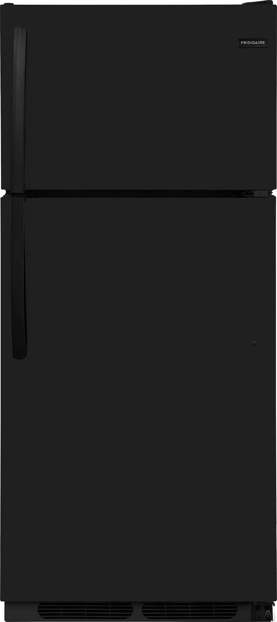 "Frigidaire FFHT1614TB 28 Inch Top-Freezer Refrigerator with Store-Moreâ""¢ Crispers, Store-Moreâ""¢ Gallon Shelf, Reversible Door, Clear Dairy Bin, Full Width Freezer Shelf, ADA Compliant and Energy Star: Black"