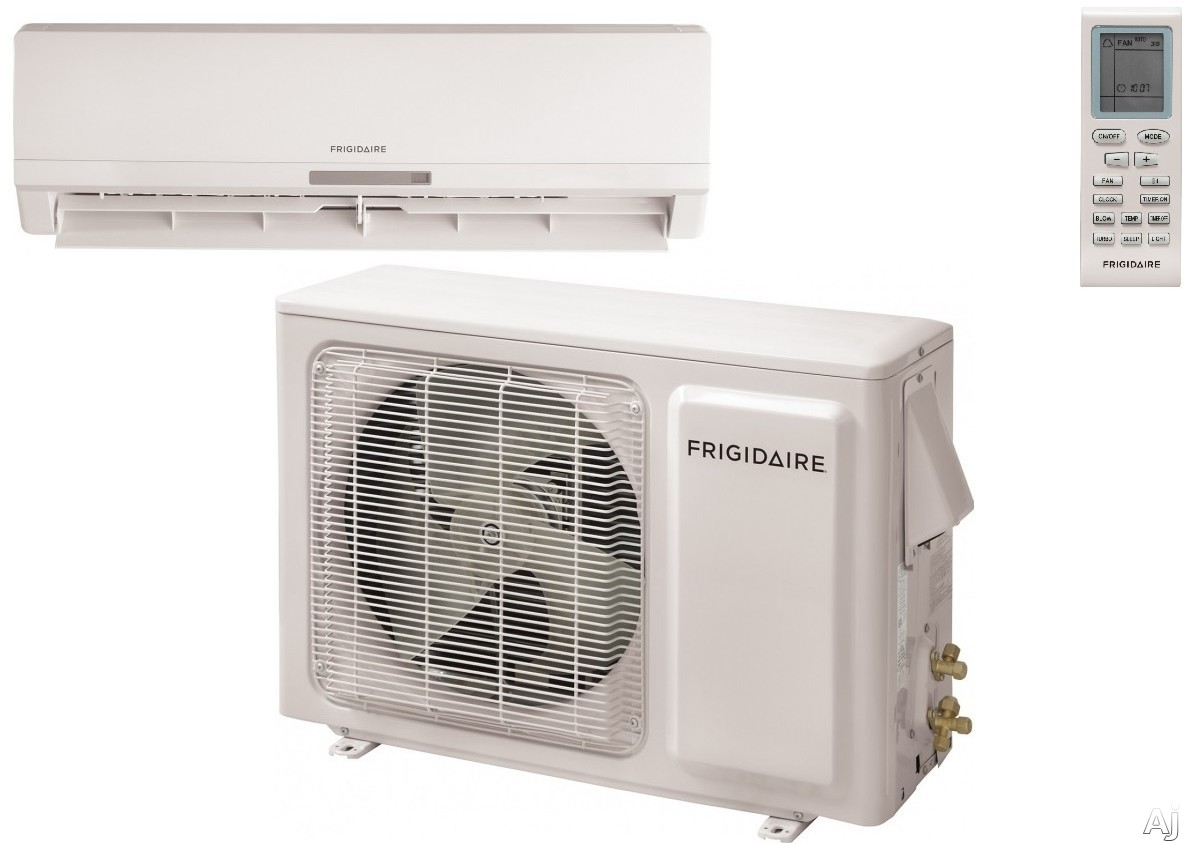 Frigidaire FFMS181SQ2 18,000 BTU Single Zone Wall-Mounted Ductless Split System with 1,000 sq. ft. Cooling Area, Inverter Technology, Turbo Fan and Low Ambient Operation, FFMS181WQ2 Indoor Unit / FFMS181CQ2 Outdoor Unit FFMS181SQ2