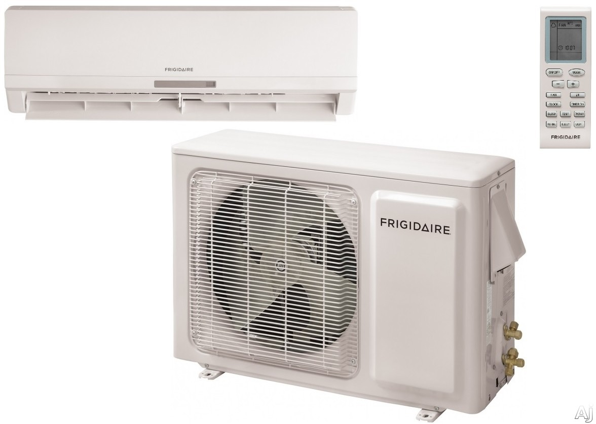 Frigidaire FFHP182CS2 19,800 BTU Single Zone Cool/Heat Pump Ductless Mini-Split Air Conditioner with 1,000 sq. ft. Cooling Area, Inverter Technology, Turbo Fan, ENERGY STAR and Low Ambient Operation (FFHP182CQ2 Outdoor / FFHP182WQ2 Indoor) FFHP182CS2