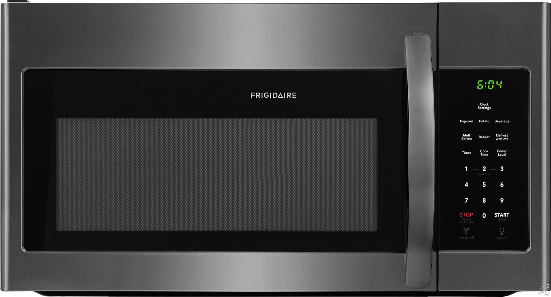Frigidaire FFMV1645TD 1.6 Cu. Ft. Over-The-Range Black Stainless Microwave FFMV1645TD