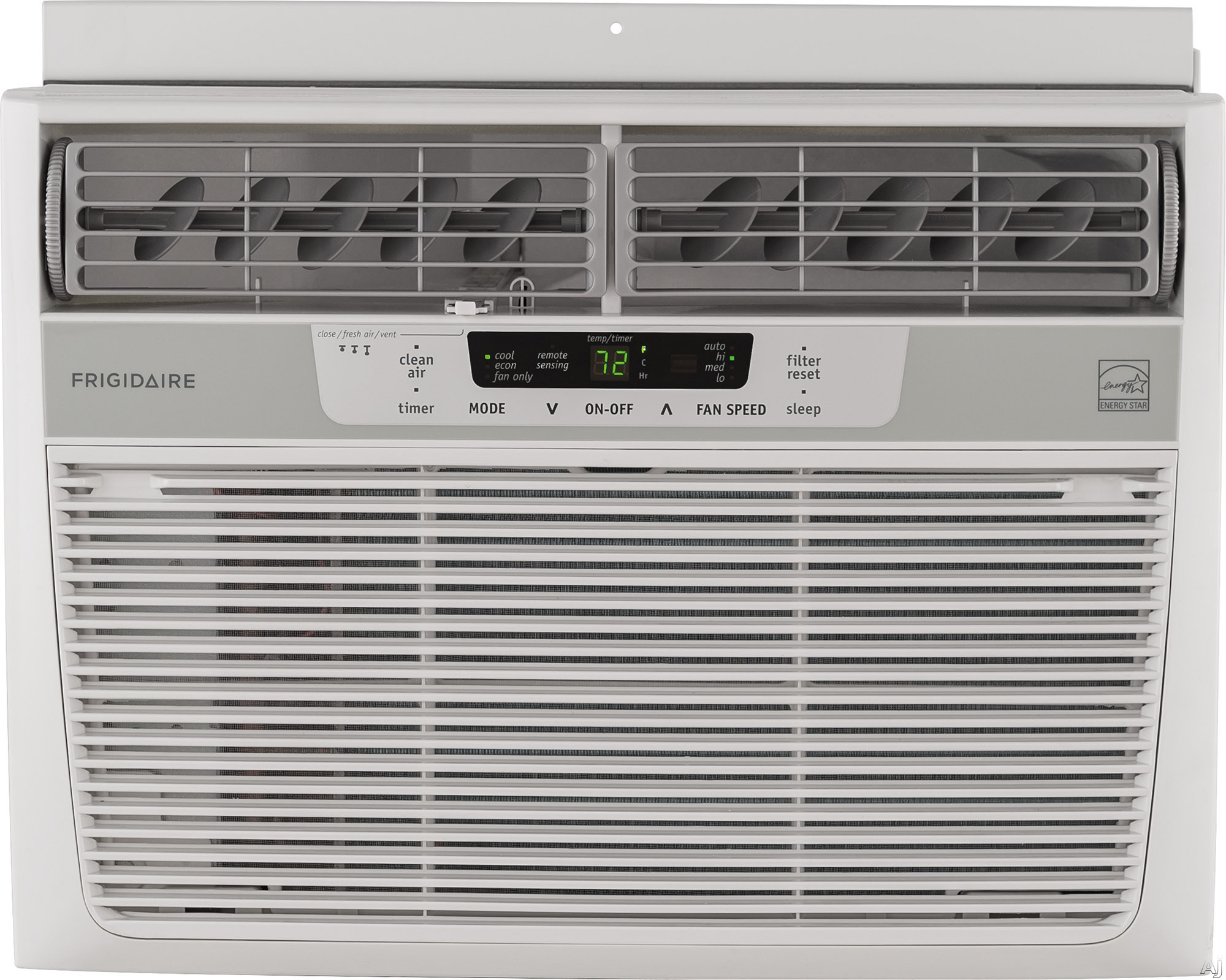 Frigidaire FFRE1033S1 10 000 BTU Compact Room Air Conditioner with 285 CFM 3 Fan Speeds Effortless Remote Temperature Control 24 Hour Timer Clean Air Ionizer Effortless Clean Filter Energy Saver Mode