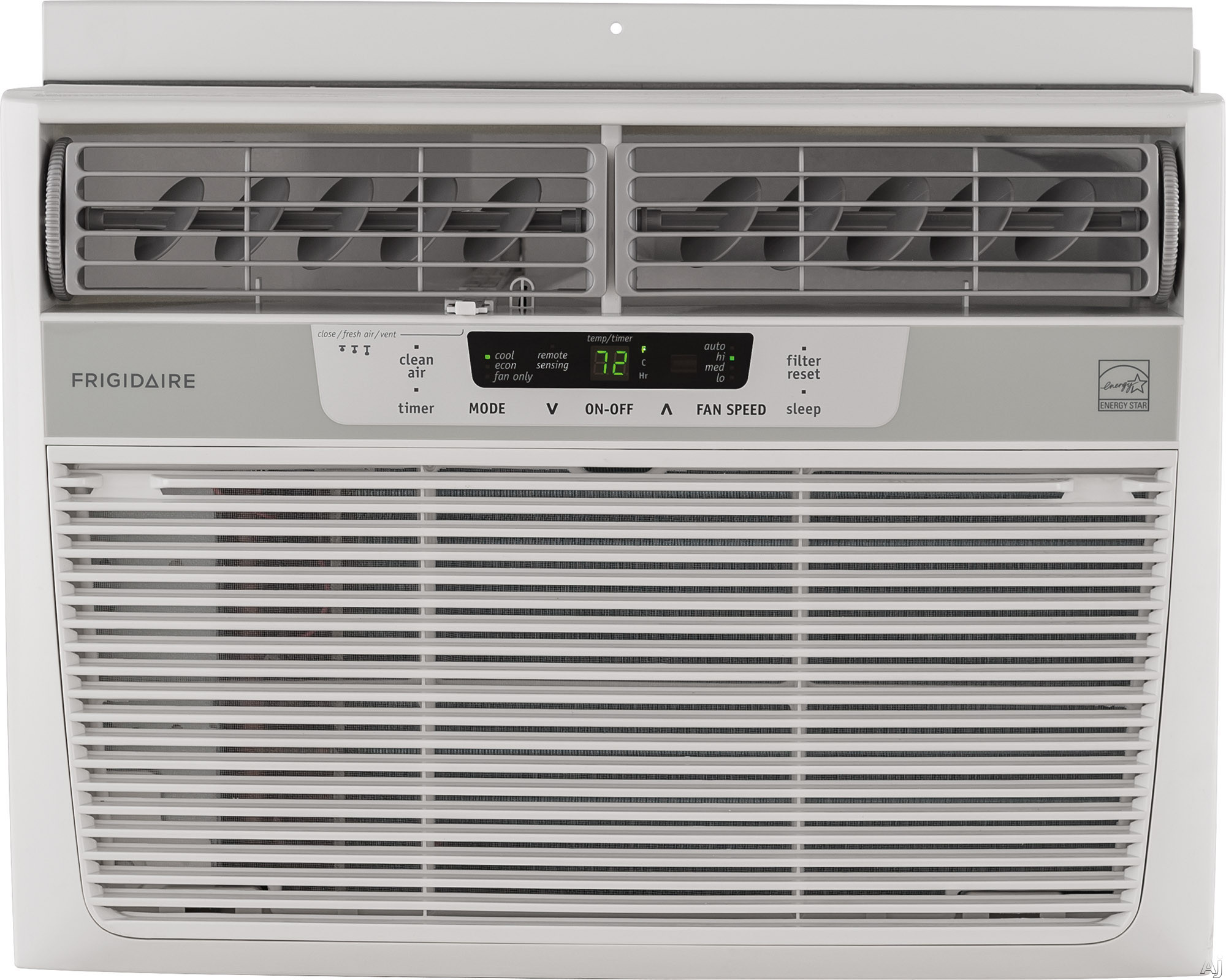 Frigidaire FFRE1233S1 12 000 BTU Compact Air Conditioner with 285 CFM 3 Fan Speeds Effortless Remote Temperature Control 24 Hour Timer Energy Saver Mode Clean Air Ionizer Effortless Clean Filter Effor