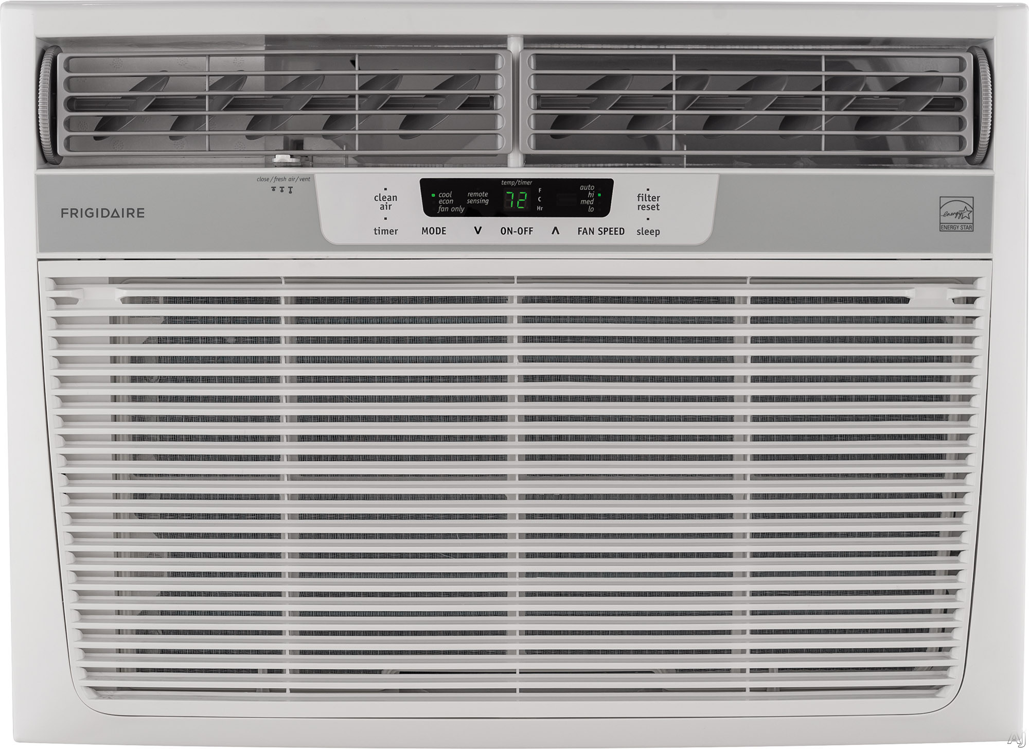 Frigidaire FFRE1833S2 18 000 BTU Window Thru The Wall Room Air Conditioner with 360 CFM 3 Fan Speeds Effortless Remote Temperature Control 24 Hour Timer Energy Saver Mode Effortless Clean Filter Clean