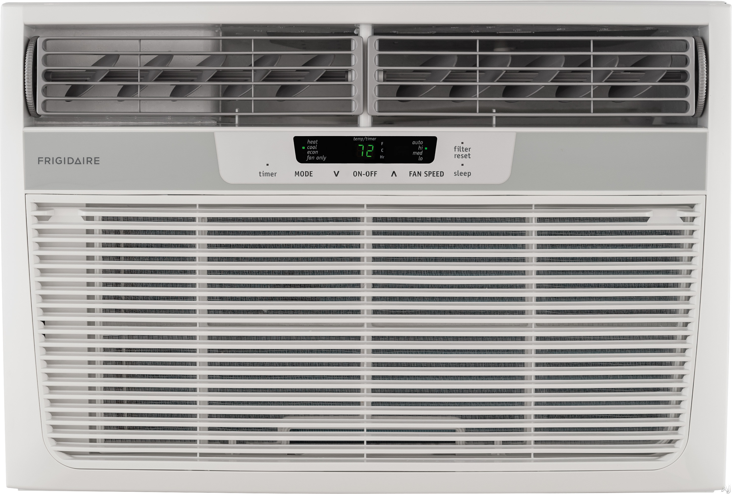 Frigidaire FFRH0822R1 8,000 BTU Room Air Conditioner with 7,000 BTU Heat Pump, 9.8 EER, R-410A Refrigerant, 1.5 Pts/Hr Dehumidification and Remote Control FFRH0822R1