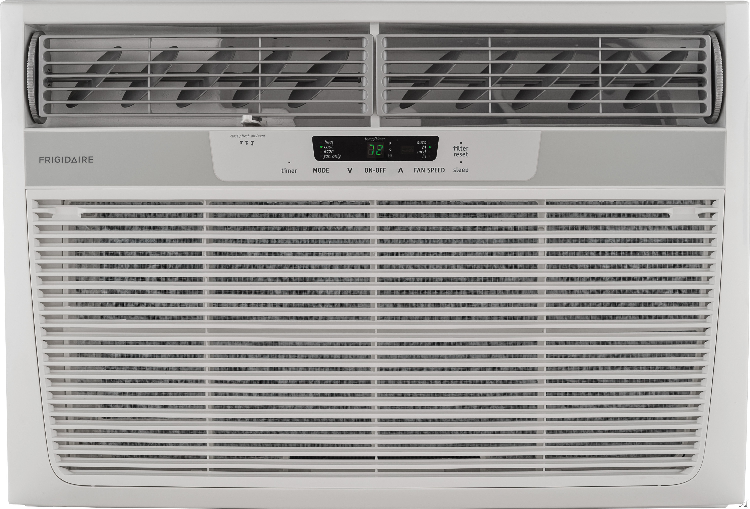 Frigidaire FFRH2522R2 25,000 BTU Room Air Conditioner with 16,000 BTU Electric Heat, 9.4 EER, R-410A Refrigerant, 8.0 Pts/Hr Dehumidification, Auto Restart and 230/208 Volts FFRH2522R2