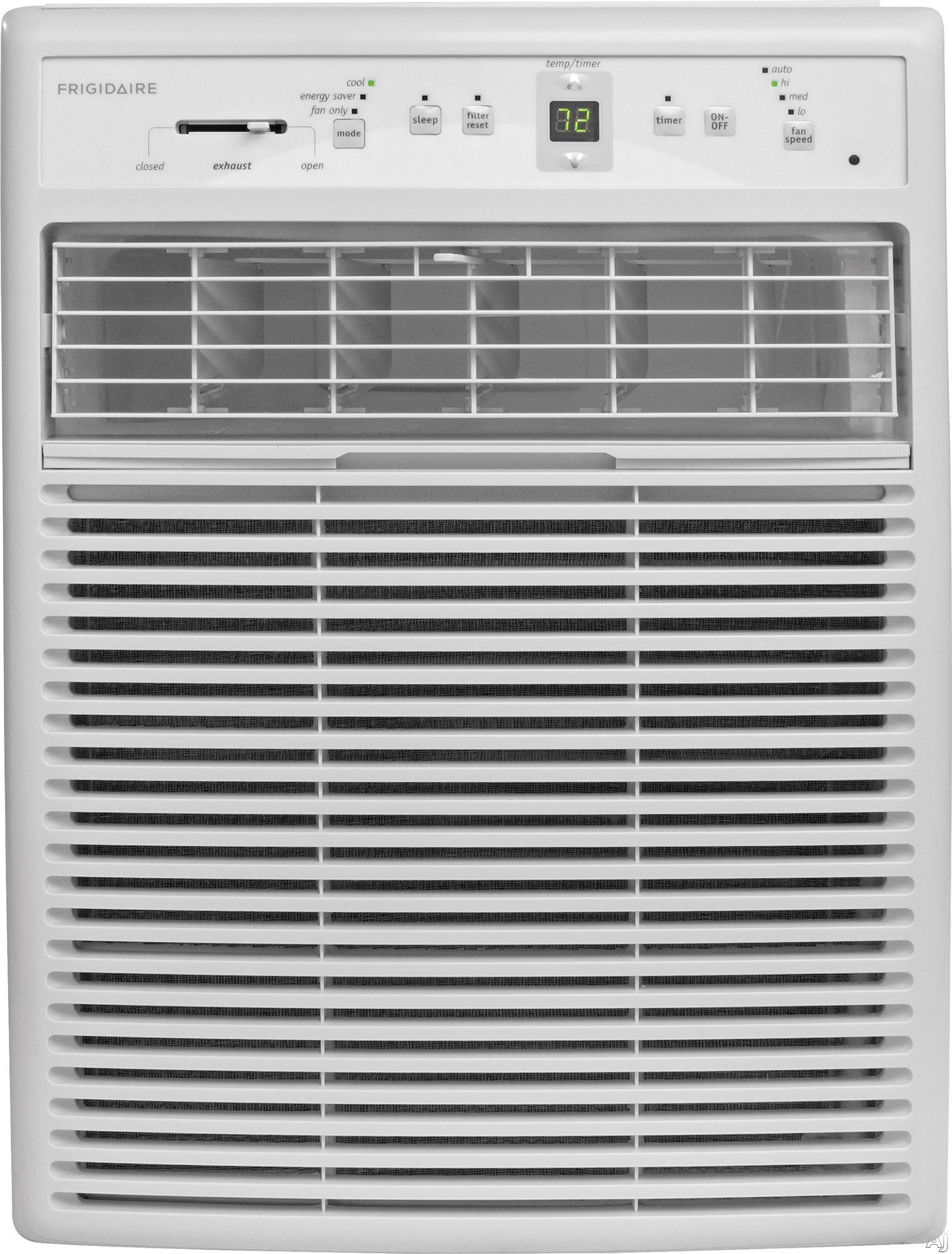 Frigidaire FFRS0822S1 8,000 BTU Room Air Conditioner with 263 CFM, 3 Fan Speeds, Effortless Temperature Control, 24-Hour Timer, Energy Saver Mode, Effortless Restart, Clean Filter Alert, SpaceWise Adj