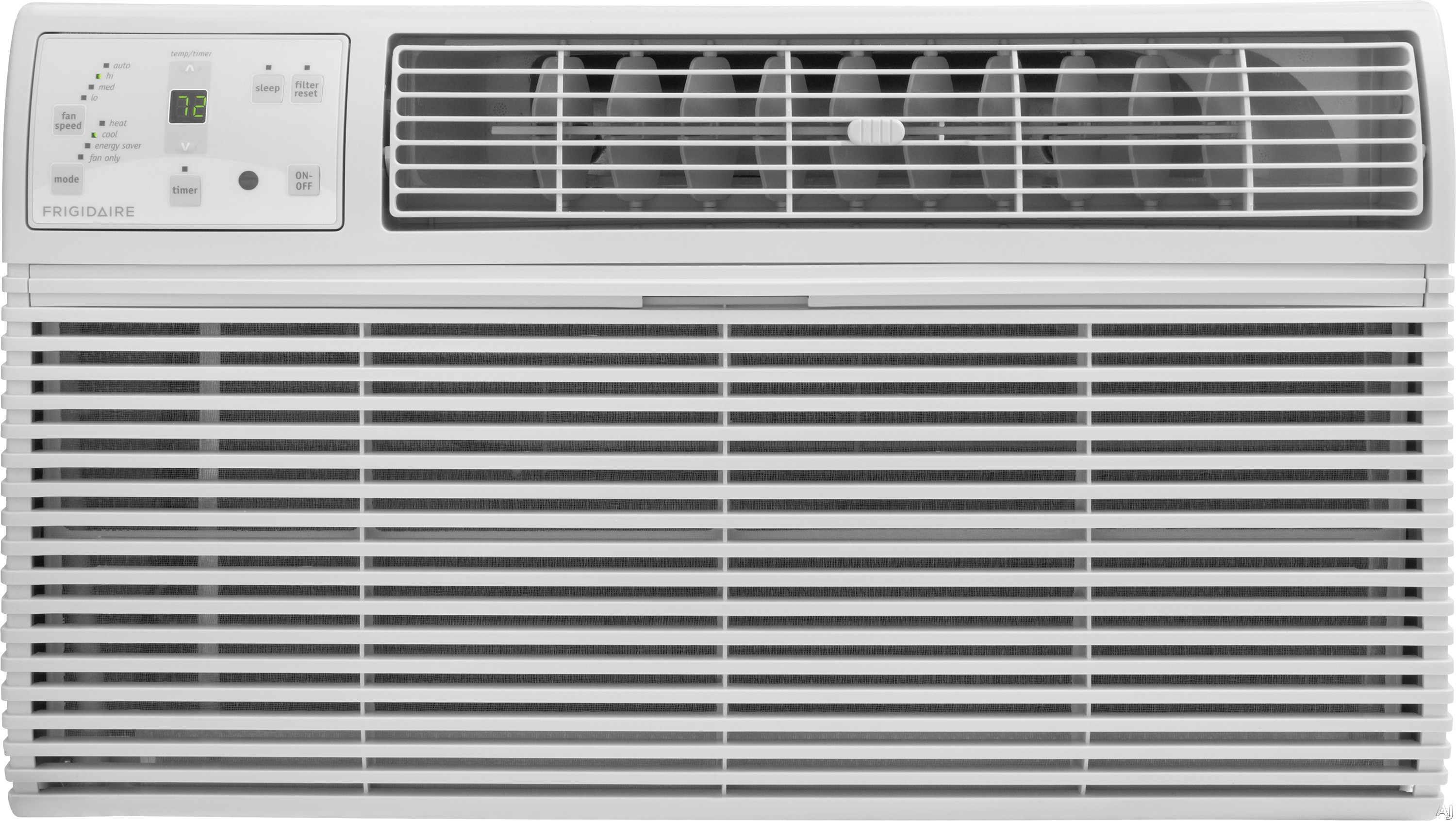 Frigidaire FFTH0822R1 8,000 BTU Thru-the-Wall Air Conditioner with 4,200 BTU Electric Heat, 9.6 EER, R-410A Refrigerant, 1.8 Pts/Hr Dehumidification, Energy Saver and Remote Control FFTH0822R1