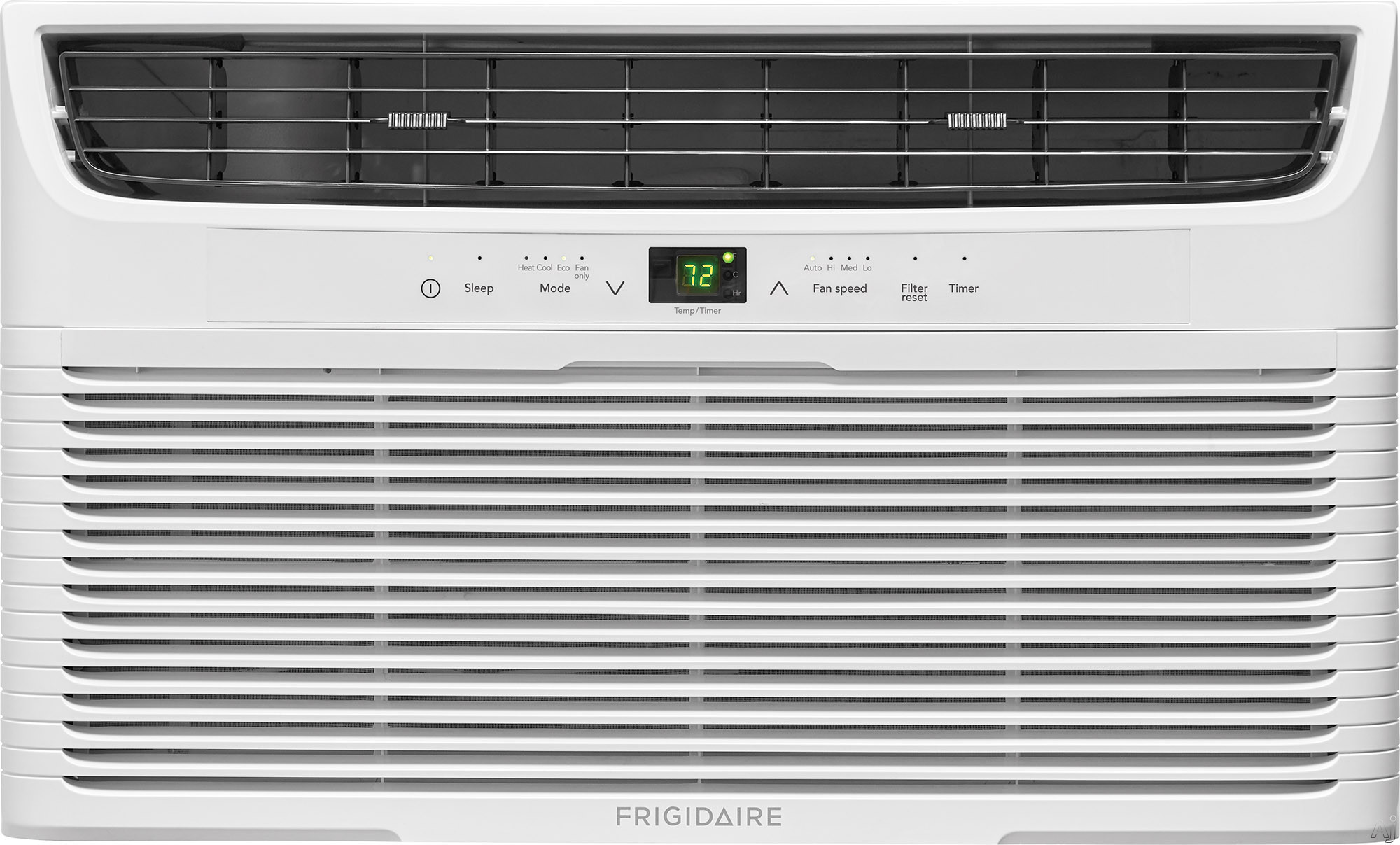 "Frigidaire FFTH1222U2 12,000 BTU Room Air Conditioner with Supplemental Heating Option, Effortlessâ""¢ Remote Temperature Control, Programmable 24-Hour Timer, Effortlessâ""¢ Clean Filter, Effort"