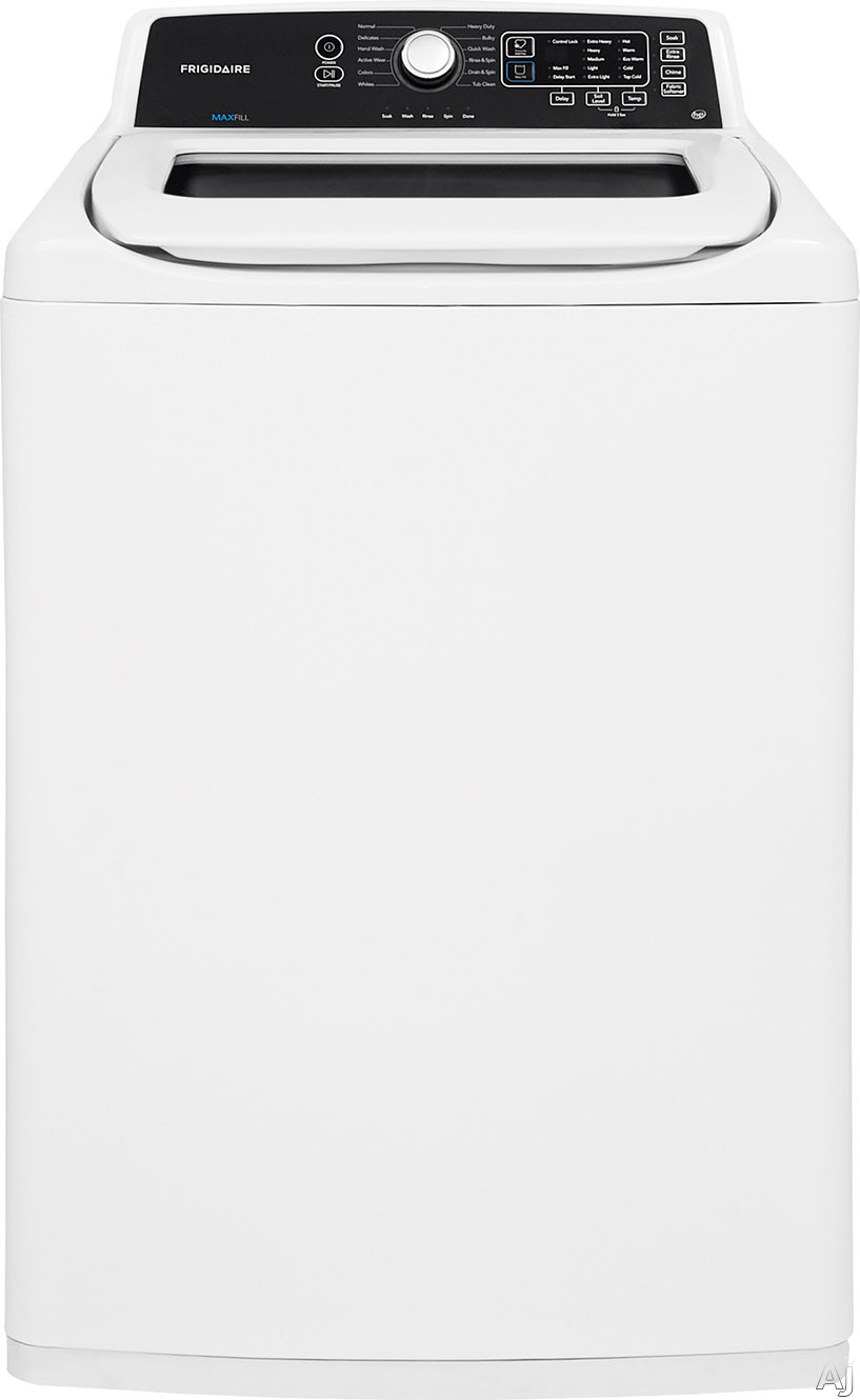 Frigidaire FFTW4120SW 27 Inch Top Load Washer with Digital Controls, Stainless Steel Drum, Fabric Softener Dispenser, 12 Wash Cycles, Quick Wash Cycle, 5 Soil Levels and 4.1 cu. ft. Capacity