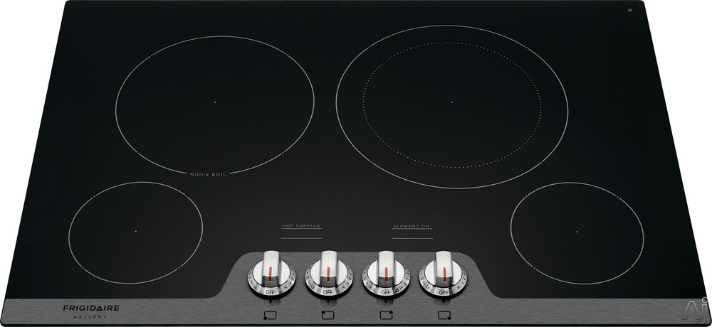 Frigidaire Gallery Series FGEC3048US 30 Inch Electric Cooktop with SpaceWise® Expandable Elements, Ceramic Glass Cooktop, Hot Surface Indicators, Quick Boil and A.D.A. Compliant