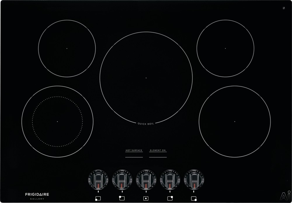 Frigidaire Gallery Series FGEC3068UB 30 Inch Electric Cooktop with Fits-More™ Cooktop, SpaceWise® Expandable Elements, Hot Surface Indicators, Ceramic Glass Cooktop, Quick Boil, Express-Selec