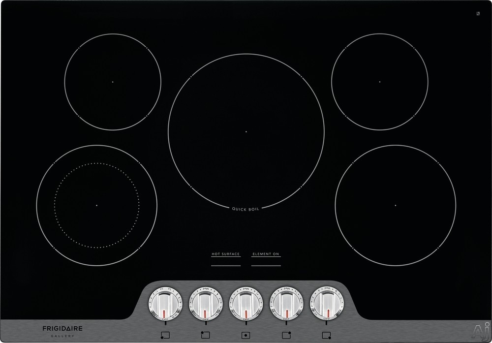Frigidaire Gallery Series FGEC3068U 30 Inch Electric Cooktop with Fits-More™ Cooktop, SpaceWise® Expandable Elements, Hot Surface Indicators, Ceramic Glass Cooktop, Quick Boil, Express-Select