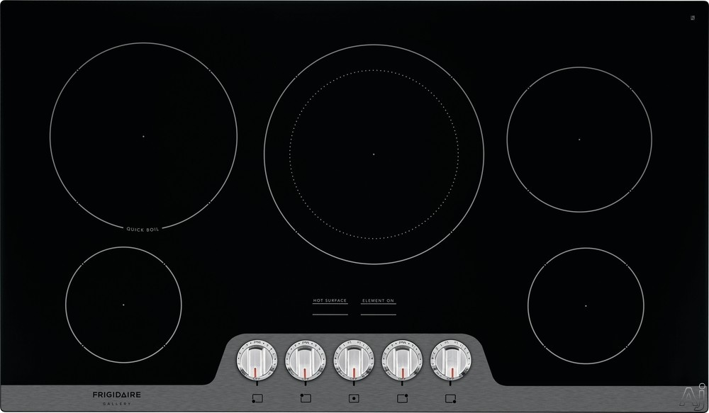 Frigidaire FGEC3648U 36 Inch Electric Cooktop with Fits-More™ Cooktop, Spacewise® Expandable Elements, Quick Boil, Ceramic Glass Cooktops, Hot Surface Indicators, Express-Select® Controls