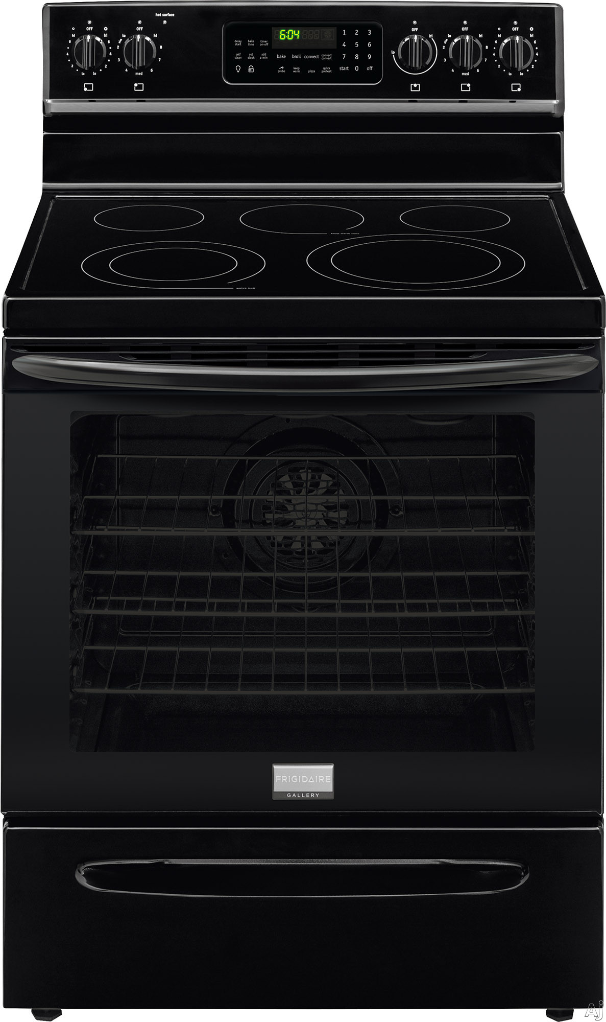 "Frigidaire Gallery Series FGEF3058RB 30 Inch Freestanding Electric Range with True Convection, Temperature Probe, Storage Drawer, Keep Warm, Fits-Moreâ""¢ Cooktop, Precision Setâ""¢ Controls, 5."