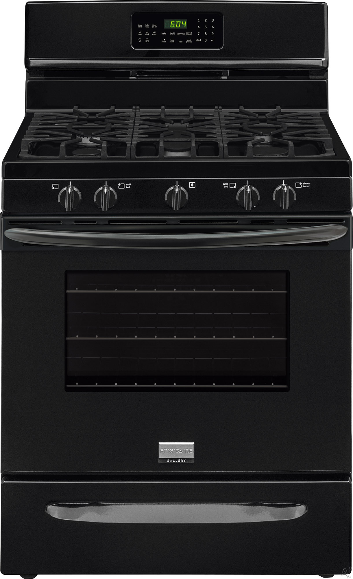 Frigidaire fggf3058rb 30 inch freestanding gas range with 5 sealed burners 5 0 cu ft true - Clean gas range keep looking new ...