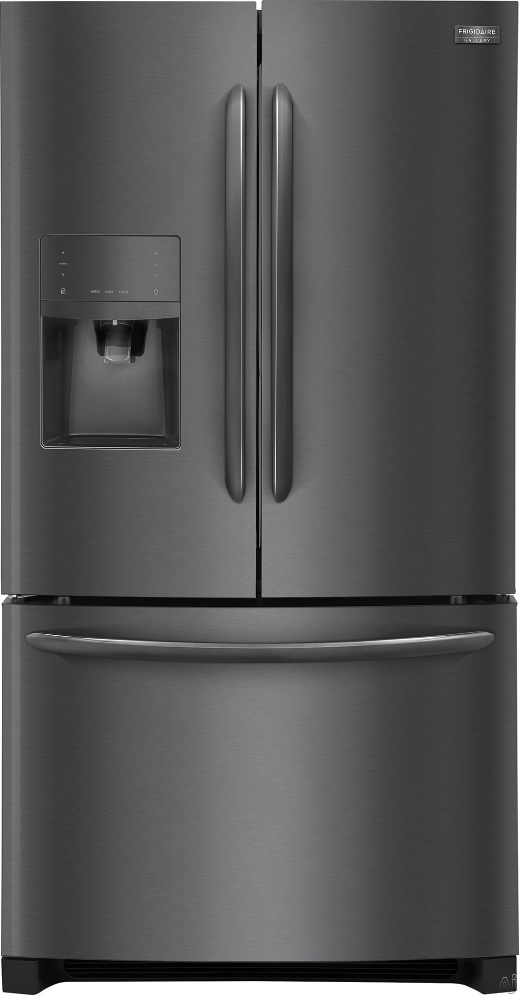 Frigidaire Gallery Series FGHB2867T 36 Inch French Door Refrigerator with Smudge-Proof™ Finish, PureSource® Ultra Filters, Quick Freeze, Effortless™ Glide Crispers, Gallon Door Storage, Sabbath Mode, ENERGY STAR® and 27.7 cu. ft. Capacity FGHB2867T