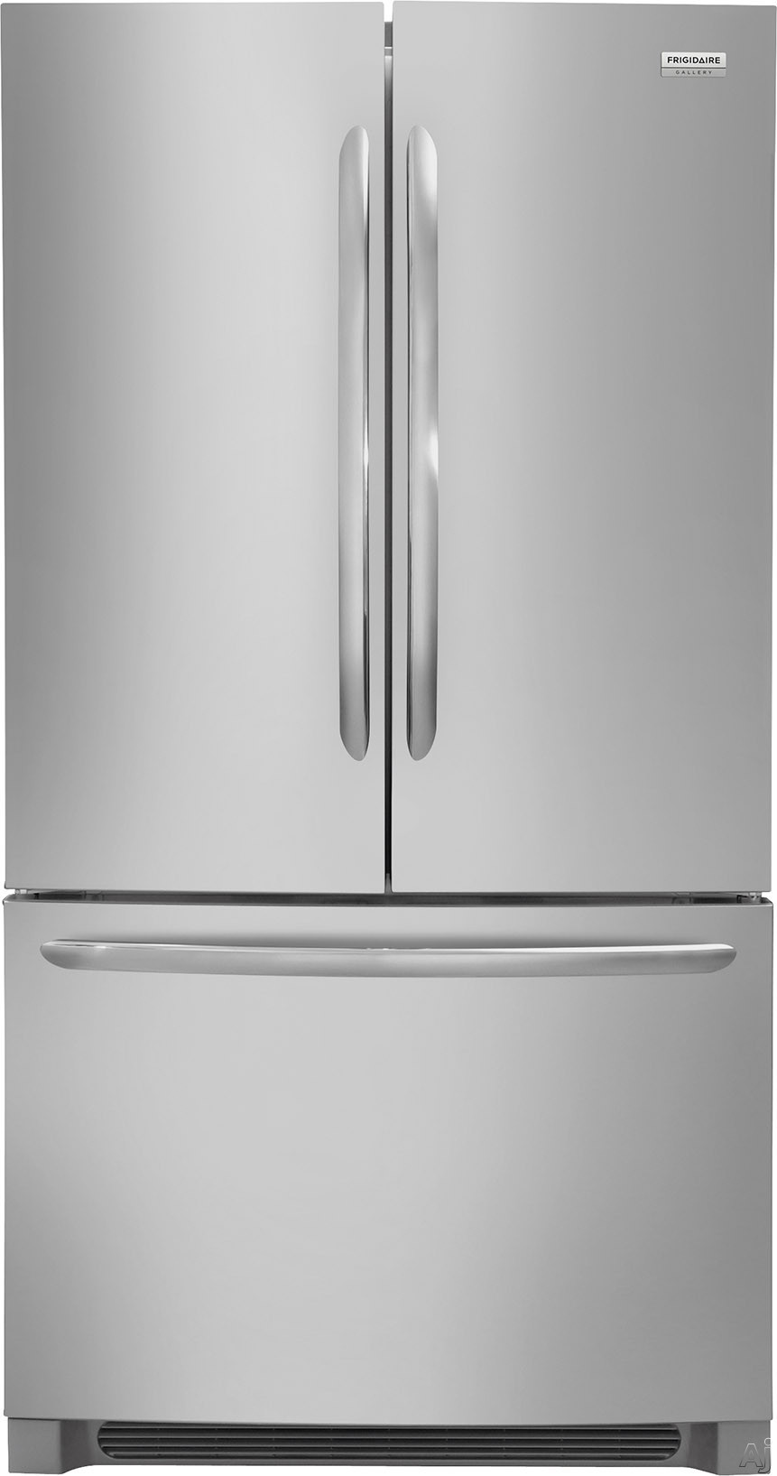 FGHG2368TF French Door Refrigerator with 22.4 cu. ft.  Even Temp  PureAir Ultra II Filters  and Effortless Glide Crisper Drawers in Stainless 852555