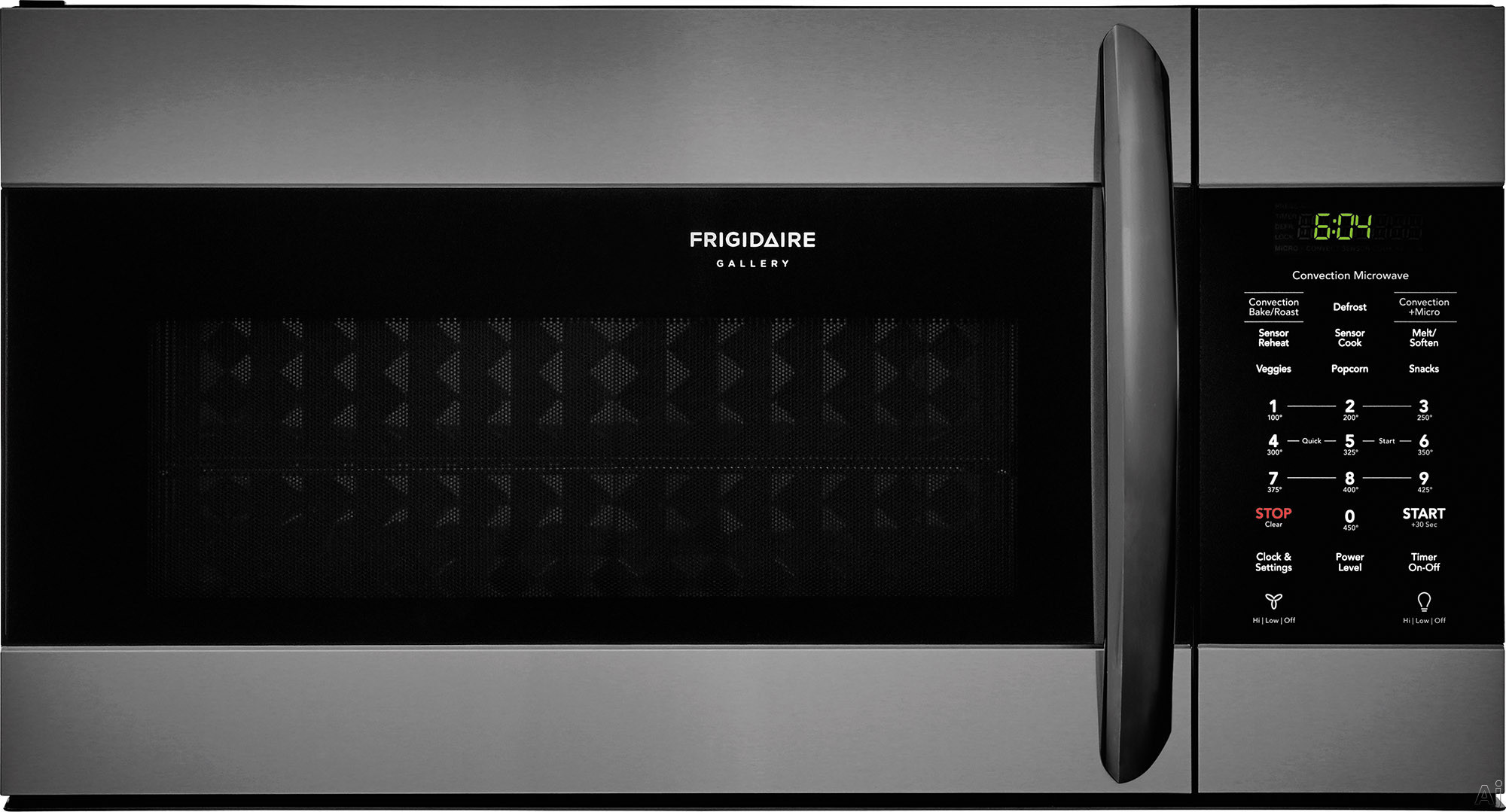"""Frigidaire Gallery Series FGMV155CTD 30 Inch Over the Range Microwave with Convection Option, Sensor Cooking, SpaceWise® Rack, One-Touch Options, PureAir® Microwave Filter, Effortless Cleanâ"""""""