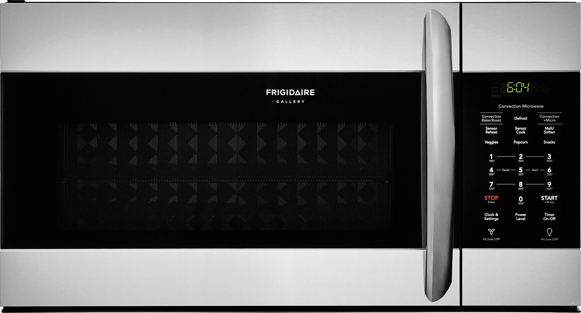 """Frigidaire Gallery Series FGMV155CTF 30 Inch Over the Range Microwave with Convection Option, Sensor Cooking, SpaceWise® Rack, One-Touch Options, PureAir® Microwave Filter, Effortless Cleanâ"""""""