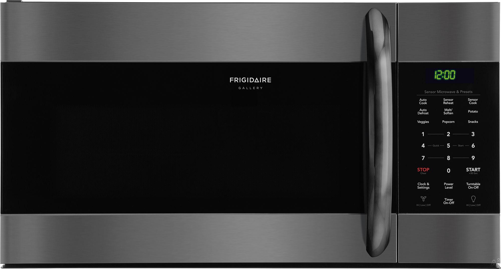 Frigidaire Gallery Series FGMV176NTD 30 Inch Over the Range Microwave with Sensor Cooking, SpaceWise® Rack, PureAir® Microwave Filter, Effortless Clean™ Interior, Effortless™ Reheat,