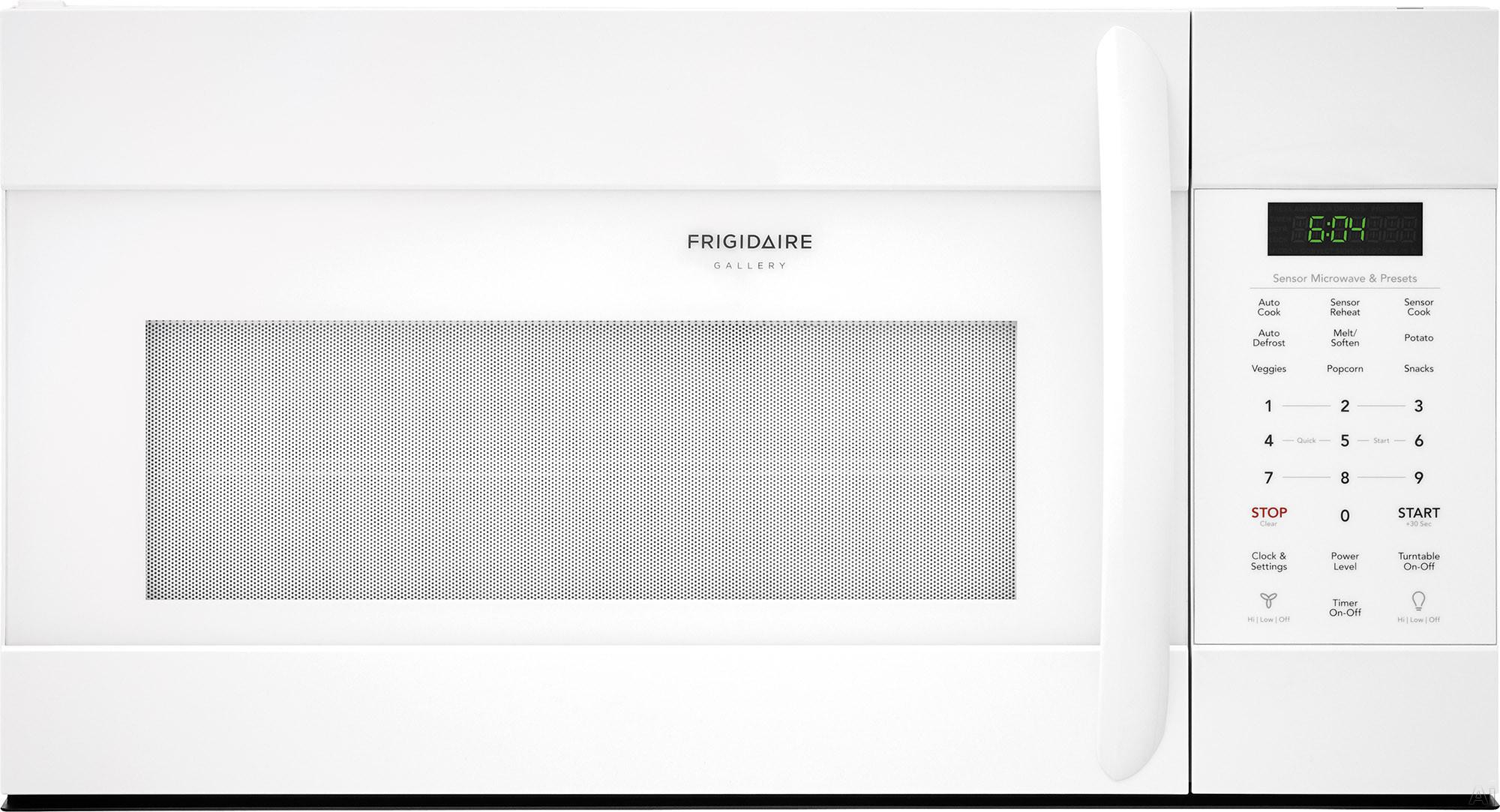 Frigidaire Gallery Series FGMV176NTW 30 Inch Over the Range Microwave with Sensor Cooking, SpaceWise® Rack, PureAir® Microwave Filter, Effortless Clean™ Interior, Effortless™ Reheat,