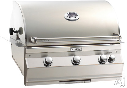 Fire Magic Aurora Collection A540I5A1N 36 1/2 Inch Built-In Grill with 540 Sq. In. Grilling Area, 60,000 BTU, All Infrared Burners, Meat Probe, Digital Thermometer, Removable Warming Rack, Interior Li