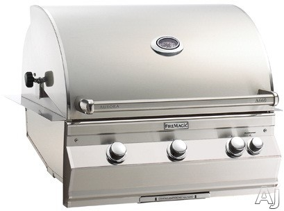 Fire Magic Aurora Collection A660I5L1N 36 1/2 Inch Built-In Grill with 660 Sq. In. Grilling Area, 75,000 BTU, Cast Stainless Steel