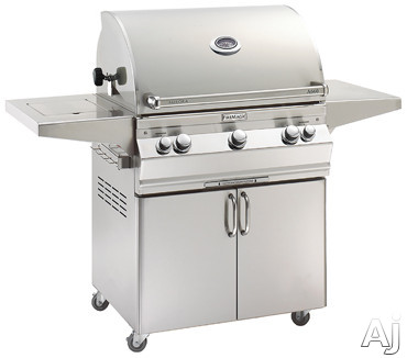 Fire Magic Aurora Collection A660S5E1X62 62 1/4 Inch Freestanding Grill with Meat Probe, Warming Rack, Digital Thermometer, 660 Sq. In. Grilling Area, 75,000 BTU, Advanced Hot Surface Ignition and Interior Lighting