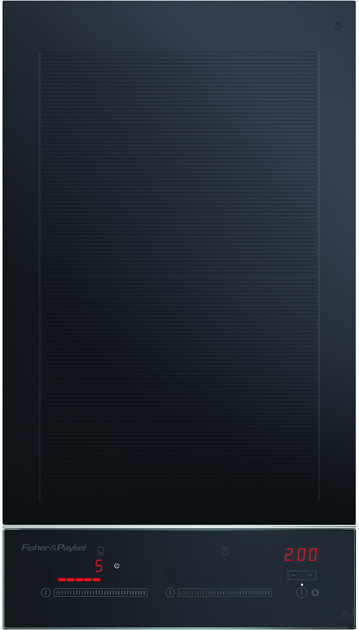 Fisher & Paykel CI122DTB2 12 Inch Electric Induction Cooktop with 2 Cooking Zones, Up to 3700W Per Cooking Zone with PowerBoost, Black Ceramic Glass, Hot Surface Indicator, Spillage Auto-Off, Minute Timer and Touch & Slide Controls