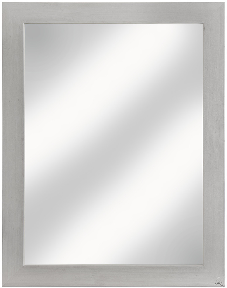 Cutler Kitchen & Bath Ivory FVCHFHMR 23 Inch Surface Mount Shaker Mirror with Shaker Style Frame, Hanging Wire and Made in Canada: Fogo Harbor