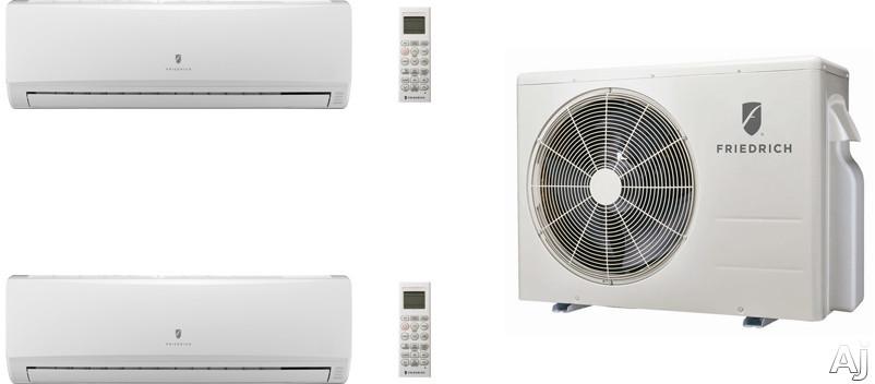 Friedrich FRI24KA30 2 Room Mini Split Air Conditioning System with Heat Pump, Inverter Technology, Low Ambient Operation, Auto Restart and R-410A Refrigerant FRI24KA30