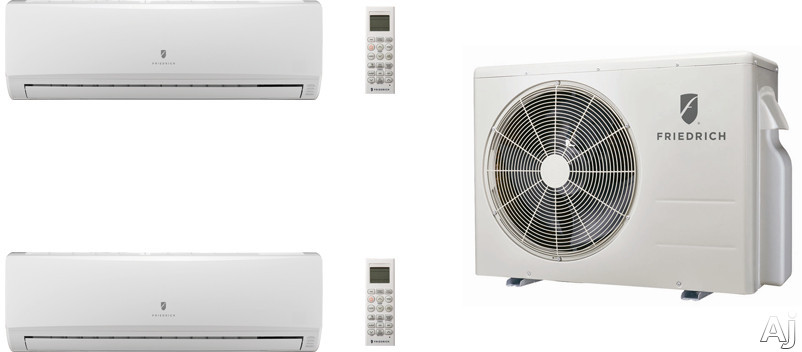 Friedrich FRI24KA27 3 Room Mini Split Air Conditioning System with Heat Pump, Inverter Technology, Low Ambient Operation, Auto Restart and R-410A Refrigerant FRI24KA27
