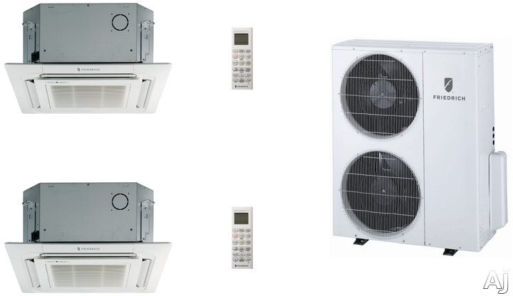 Friedrich FRI36KB75 2 Room Mini Split Air Conditioning System with Heat Pump, Inverter Technology, Low Ambient Operation, Auto Restart and R-410A Refrigerant FRI36KB75