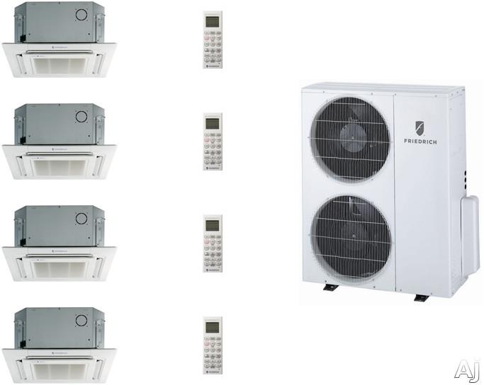 Friedrich FRI36KB92 4 Room Mini Split Air Conditioning System with Heat Pump, Inverter Technology, Low Ambient Operation, Auto Restart and R-410A Refrigerant FRI36KB92