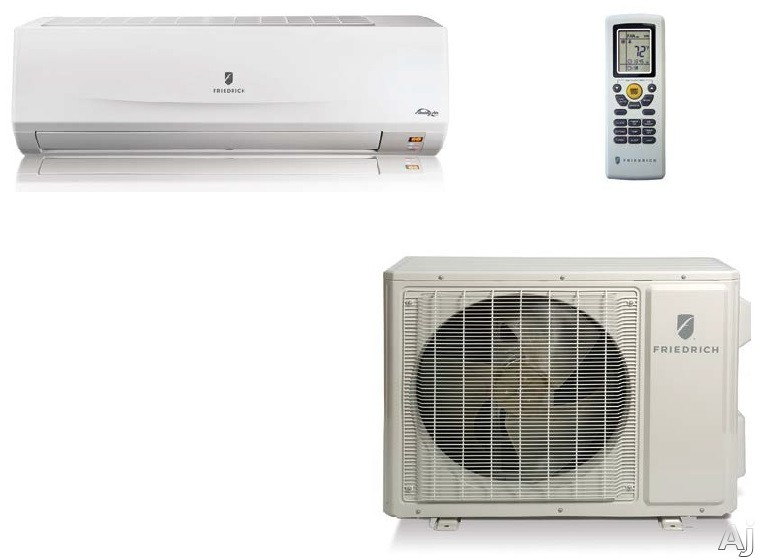 Friedrich Floating Air MM24YJ 22,000 BTU Single Zone Wall Mount Mini-Split System with 26,600 BTU Heat Pump, 10.0 EER, Inverter Technology, 5 Operating Modes, Turbo Mode, 24-Hour Timer, Washable Antimicrobial Filter and R410A Refrigerant (MWM24Y3J Indoor