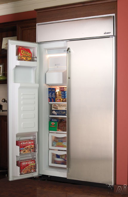 Dacor ef42bdcbss 42 built in side by side refrigerator for Dacor 42 refrigerator