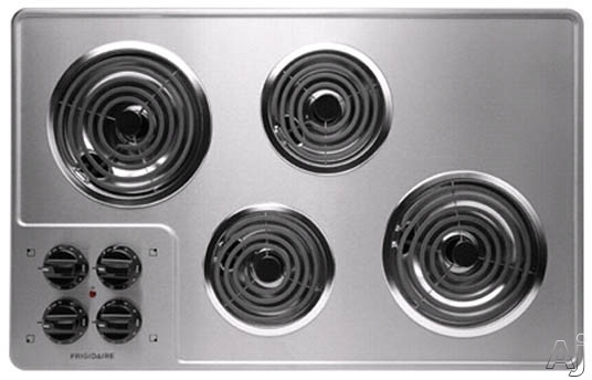 Frigidaire FFEC3205L 32 Inch Electric Cooktop with 4 Coil Heating Elements, Brushed Chrome Surface and Ready-Select Controls