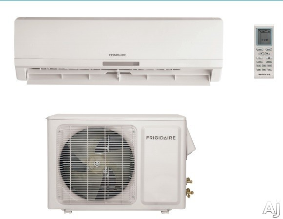 Frigidaire FFMS221SQ2 21,400 BTU Single Zone Wall Mount Mini-Split Air Conditioner with 18 SEER, 1,000 Sq. Ft. Cooling Area, Up to 588 CFM, Effortless Temperature Control, 3 Fan Speeds, Remote Control, 24-Hour Timer, Antibacterial Filter and Ready-Select