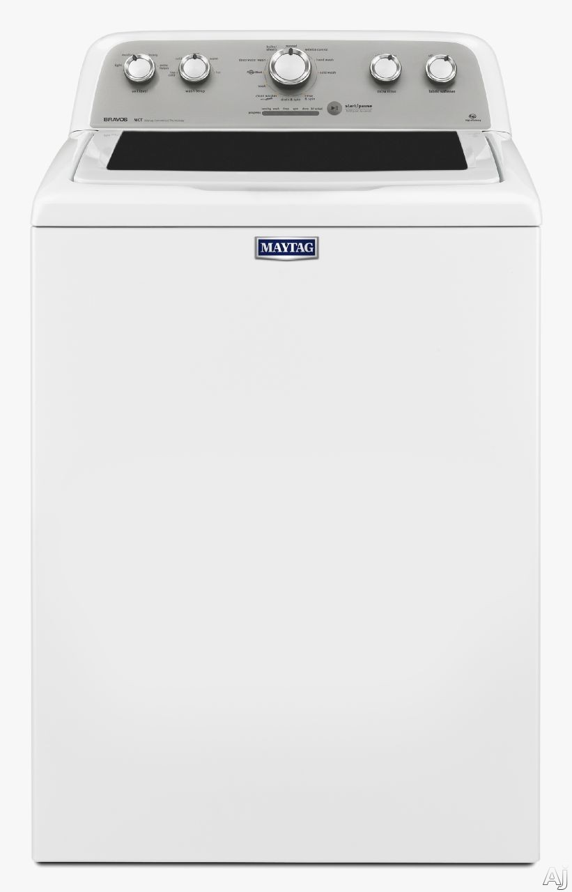 Maytag MVWX655DW 28 Inch 4.3 cu. ft. Top Load Washer with 11 Wash Cycles, 660 RPM, PowerWash Cycle, Deep Water Wash Cycle, Wrinkle Control, Automatic Load Size Sensing Technology, Power Impeller, Optimal Dispensers and ENERGY STAR Qualification MVWX655DW