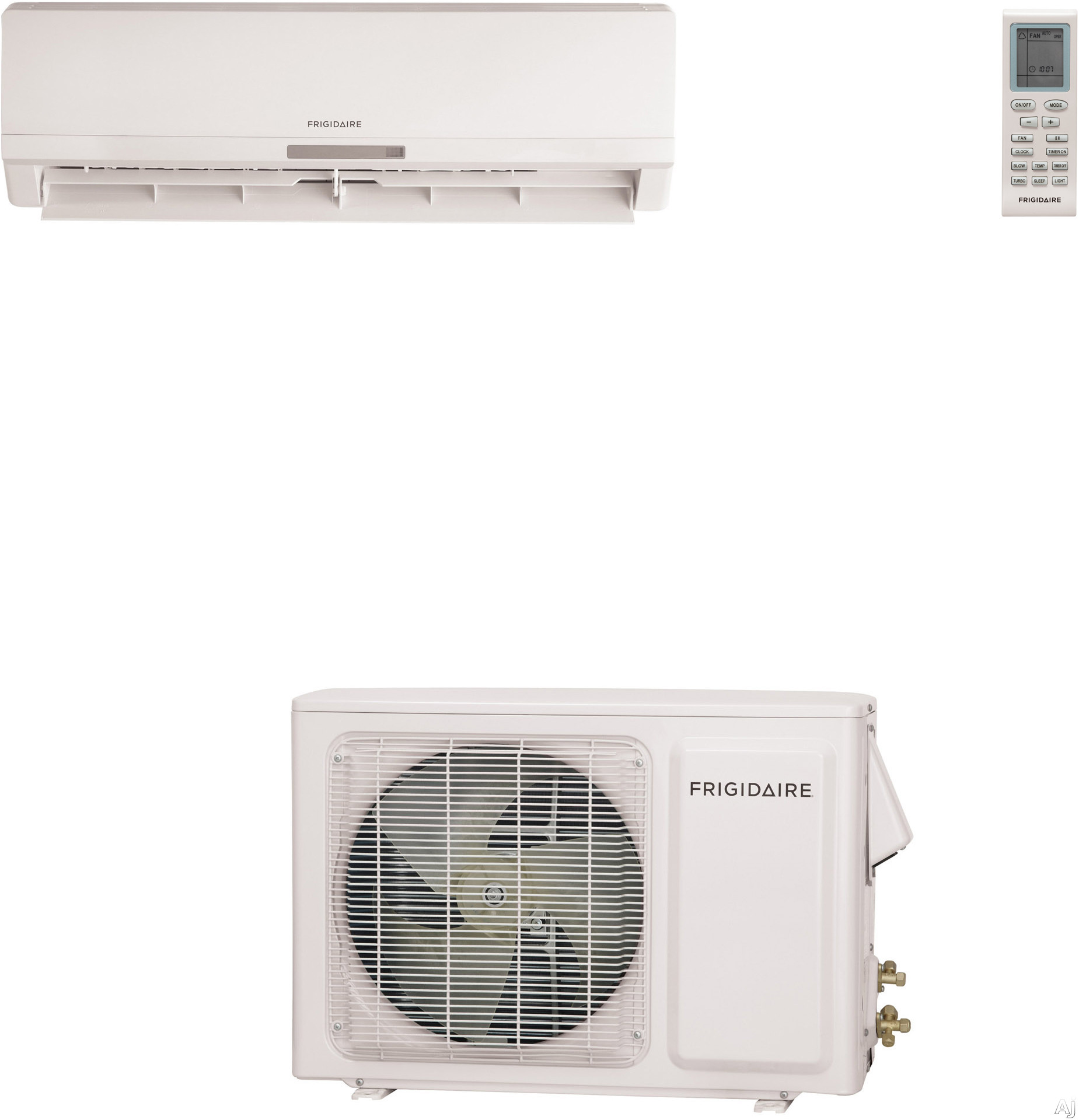 Frigidaire frs184ys2 18 000 btu single zone wall mount for Ductless ac