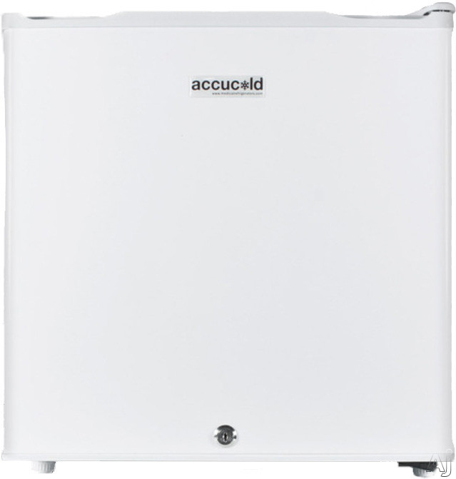 AccuCold FS21L 19 Inch Compact Medical Freezer with Wire Shelf, Adjustable Dial Thermostat, Door Lock, Manual Defrost and One-Piece Interior Liner