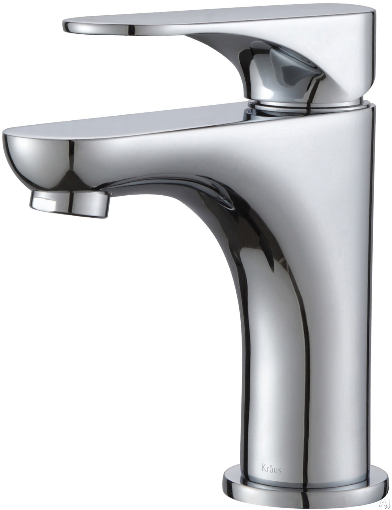 Kraus Aquila Series FUS13901CH Single Handle Cast Spout Bathroom Faucet with 431 Inch Reach 397 Inch Spout Height Kerox Ceramic Cartridge and High Performance Low Flow Neoperl Aerator Brushed Nickel Chrome