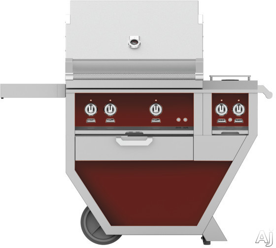 Hestan GMBR30CX2BG 49 Inch Freestanding Grill with Rotisserie, Sear Burner, Warming Rack, 49 Inch Freestanding Grill, 525 sq. in. Grilling Area, Trellis Burner, Double Side Burner, 92,000 BTU, Horizon