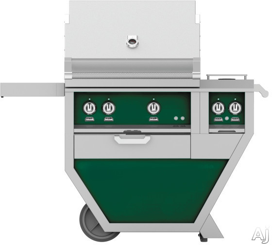 Hestan GMBR30CX2GR 49 Inch Freestanding Grill with Rotisserie, Sear Burner, Warming Rack, 49 Inch Freestanding Grill, 525 sq. in. Grilling Area, Trellis Burner, Double Side Burner, 92,000 BTU, Horizon